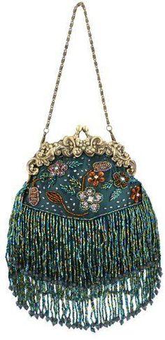 Vintage seed bead evening bag