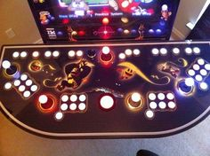 "Mame Arcade Cabinet, Pc, 4 Player Led Controllers, 27"" Screen And More"