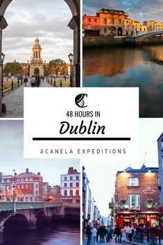 For a long weekend in Dublin, you want to see/do as much as possible into your stay while likely avoiding the major overcrowded touristy spots.  I don't know about you, but I would like to get a proper foamy, creamy bit of Guinness and avoid paying nearly nine euros for one pint. So without further ado, here's a complete guide to spending a weekend in Dublin, Ireland. #visitireland #visitdublin #acanelaexpeditions #boutiquetravel #adventuretravel #artisanexperience