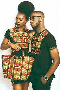 2018 Beautiful Ankara Styles For Young Couples Ankara Is One Of The Most Widely know material in Africa an the most colorful clothing on earth Couples African Outfits, African Dresses For Women, Couple Outfits, African Attire, African Wear, African Fashion Dresses, African Women, African Style, African Inspired Fashion