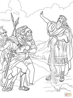Coloring Picture Of Davids Mighty Men