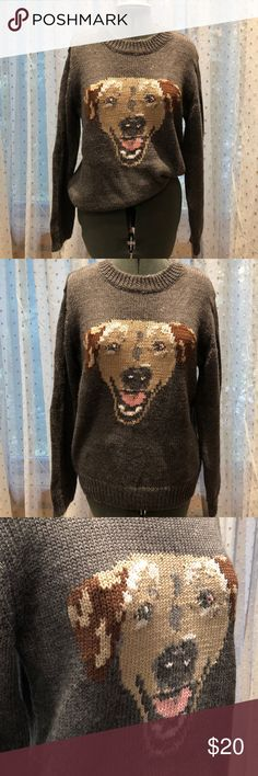 Clunky UO Doggy Sweater This amazing comfy sweater is by Peter Jensen for Urban Outfitters. It's perfect for the winter !! Urban Outfitters Sweaters Crew & Scoop Necks