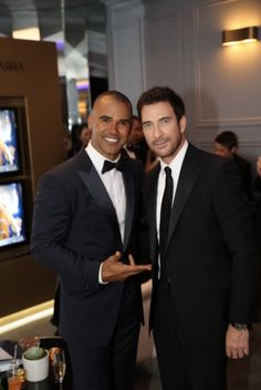 Hot damn! In suits! I may pass out.   shemar moore and dylan mcdermott