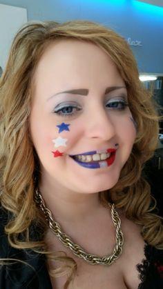 maquillage drapeau francais