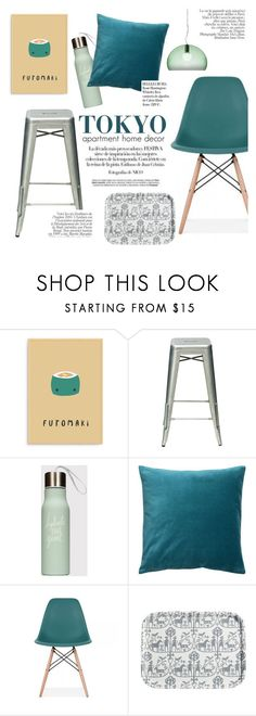 """""""Tokyo apartment home decor"""" by cielshopinteriors ❤ liked on Polyvore featuring interior, interiors, interior design, home, home decor, interior decorating, Ciel, Kartell and Whiteley"""