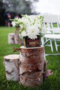 Wedding Aisle Wood Stumps Decorations