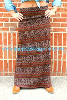 Cottage Maxi Skirt  $46.99 #southernfriedchics