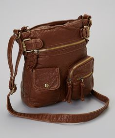 $28 Brown Triple Pocket Crossbody Bag.  Just an example. Get something you like, but big enough to put my ipad in.