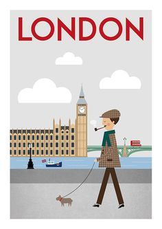 London print City poster England style Inspiration by TomsPictures