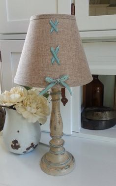 In Stitches Lamp by TrouveCreations1 on Etsy, $24.99