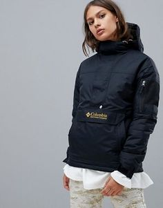 Buy Columbia Challenger Pullover in Black at ASOS. With free delivery and return options (Ts&Cs apply), online shopping has never been so easy. Get the latest trends with ASOS now. Anorak Jacket, Sweater Jacket, Pullover Hoodie, Hoody, T Shorts, Jackets For Women, Clothes For Women, Rain Wear, Sweatshirts