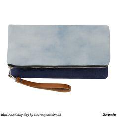 Blue And Grey Sky Clutch