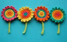 Dandelion flower applique crochet pattern bloom collection by tomtoy easy crochet flower embellishment step by step crochet tutorial Crochet Flower Patterns, Afghan Crochet Patterns, Flower Applique, Crochet Motif, Crochet Doilies, Crochet Yarn, Crochet Flowers, Crochet Stitches, Crochet Owls