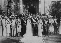 Greek Crown Prince married in Athens Prince Paul of Greece only brother of King George of the Hellenes and heir presumptive to the throne was married. Greek Crown, Prince Paul, Greek Royalty, Greek Royal Family, Indian Princess, Royal Crowns, Royal Weddings, Kaiser, Greece