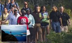 President Barack Obama enjoyed some father-daughter time with 16-year-old Malia during a scenic hike to Hawaii's Makapuu Point Lighthouse in Oahu.