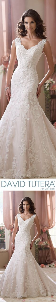 Sybil Wedding Dresses 2014 Collection – Sleeveless hand-beaded lace, point d'Esprit and organza modified mermaid wedding dress