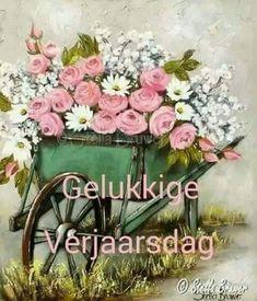 Verjaarsdag Congratulations, Floral Wreath, Wreaths, Celebrations, Home Decor, Floral Crown, Decoration Home, Door Wreaths, Room Decor