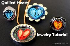 DIY Quilled Hearts Jewelriy