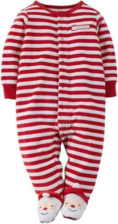 bf780cb5b1 Carter s Unisex Baby Christmas Velour Snap-Up Sleep  amp  Play (3 Months