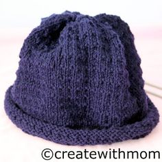 Create With Mom: Knit hat - free pattern