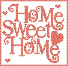 PDF - Home Sweet Home - cross stitch PDF Pattern - pdf pattern instant download by Rainbowstitchcross on Etsy