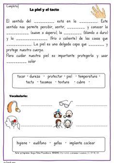 Actividades de comprensión lectora. Los cinco sentidos - Aula PT Spanish Teaching Resources, Spanish Lessons, Preschool Education, Preschool Worksheets, 3rd Grade Classroom, Learn English Words, Home Schooling, Science And Nature, Reading Comprehension