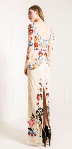 Long Toledo Tulle Dress, Cream UK8 Temperley London