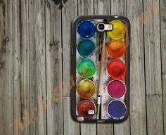 Samsung Galaxy Note 2 Case,Samsung Note 2 Case,Samsung S3 Case,Custom Phone Case,Cell Phone Case for Samsung Case - Water Color Paintbox. $12.99, via Etsy.