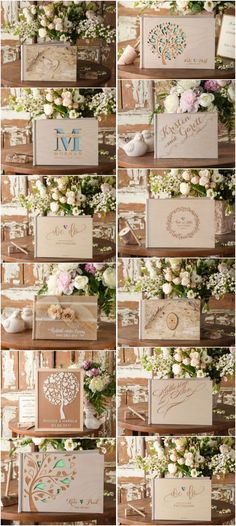 Rustic country wood wedding guest books #rusticwedding #countrywedding #weddingideas