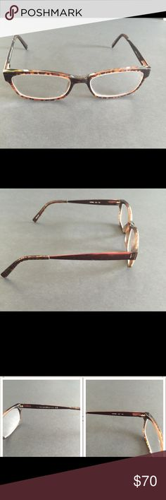 KATE SPADE LEANNE GLASSES IN ANIMAL TORTOISE Have prescription lenses in them. They are in very good condition. Acetate plastic front and metal temples. Includes case. kate spade Accessories Glasses