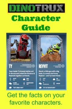 Dinotrux Character Guide. The boys are in love!