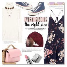 """""""Every size is the right size"""" by bibibaubau ❤ liked on Polyvore featuring Rebecca Taylor, Fendi, Arche, Converse, Betsey Johnson, Amrita Singh, Le Specs and Burberry"""