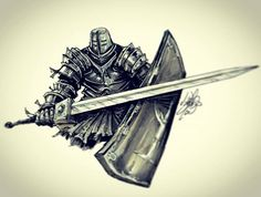 Commission work. Black Iron Tarkus from Dark Souls. #darksouls #ink #marker #art #dark #souls #black #irontarkus