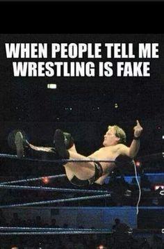 Cuando la gente me dice que la lucha es falsa