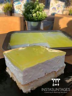 Baking Recipes, Dessert Recipes, Desserts, Greek Recipes, Tart, Cheesecake, Lemon, Food And Drink, Menu