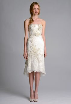 Top Wedding Dress Trends for 2014 Chic and Short - Marchesa http://chicvintagebrides.com/index.php/wedding-dresses/top-10-wedding-dress-trends-2014/