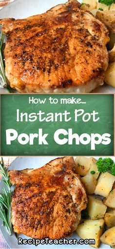 Make delicious pork chops in your Instant Pot with this super easy recipe. #instantpot #porkchops