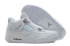 """http://www.nikeriftshoes.com/air-jordan-4-retro-25th-anniversary-whitemetallic-silver-for-sale.html AIR JORDAN 4 RETRO """"25TH ANNIVERSARY"""" WHITE/METALLIC SILVER FOR SALE Only $90.00 , Free Shipping!"""