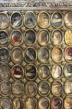"Reliquaries  - contain relics of saints - cool idea for ""family tree."""