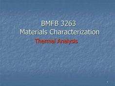 BMFB 3263 Materials Characterization