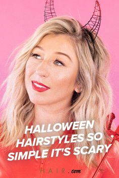 We came up with five easy Halloween hairstyles so simple, anyone can pull them off! Halloween Hairstyles, Easy Halloween, Loreal, Hair Beauty, Simple, Hair Styles, Hair Plait Styles, Halloween Hairstyle, Hair Makeup