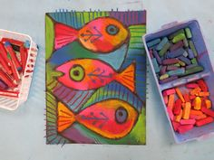 34 Ideas Fish Art Projects For Kids Classroom Folk Art Fish, Fish Art, Classroom Art Projects, Art Classroom, Diy Projects, Ocean Projects, Project Ideas, Elementary Art Rooms, Art Lessons Elementary