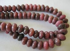 Large Hole Bead 8MM Rhodonite Rondelle  For by jewelrycatsupplies, $7.90