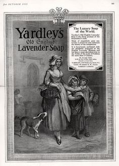 Yardley's Old English Lavender Soap . From Duke Digital Collections. Collection: Ad*Access. Children are shown, but not the focus of the ad.