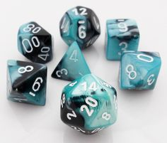 Gemini Dice (Black and Shell) RPG role playing game dice