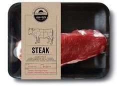 From farm to table, Package design and Meat on Pinterest