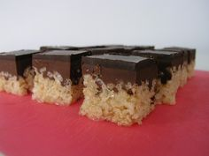 """Peanut butter chocolate Krispy bars from Manhattan Craft Room - Eat Your Books is an indexing website that helps you find & organize your recipes. Click the """"View Complete Recipe"""" link for the original recipe."""