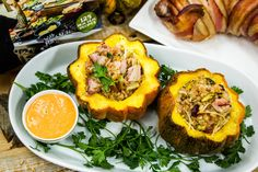 From Celebrity Chef #GuyFieri super delicious Stuffed Acorn Squash! For more great recipes by celebrity chefs tune in to Home & Family weekdays at 10a/9c on Hallmark Channel!