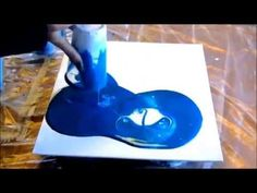 Acrylic Pour / Dirty Pour on Canvas Board - YouTube