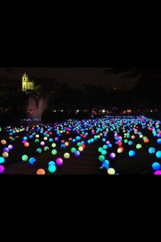 Put glow sticks in balloons and cover your yard